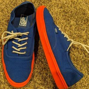 *RARE* Vans Authentic Lite Shoe Blue and Orange